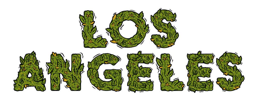 Best Cannabis Dispensaries in Los Angeles. Los Angeles written in graffiti.