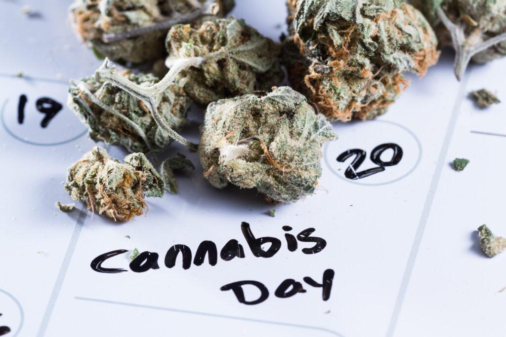 Best marijuana events. Calendar with marijuana on it.