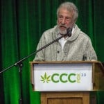 Best Cannabis Conference For Your Business. Man giving a speech.