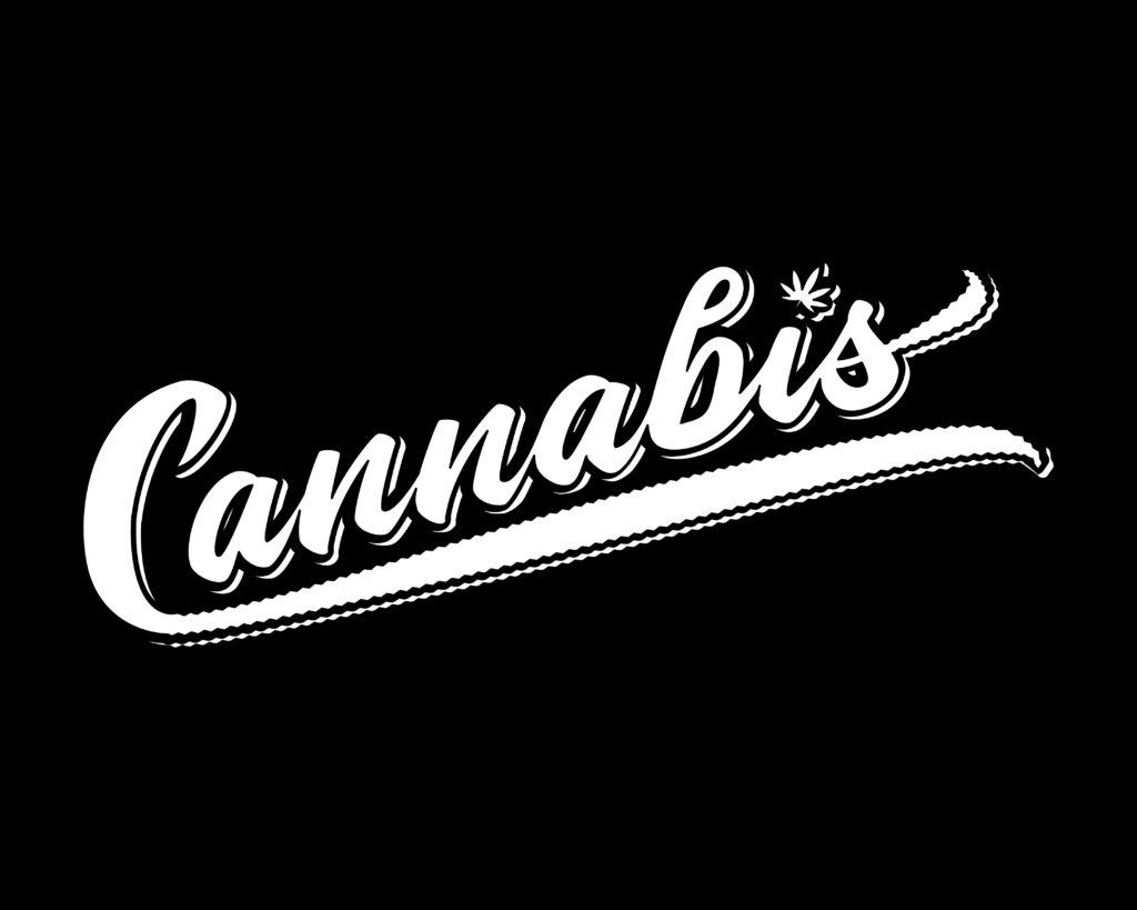 Best Marijuana Shirts Online. Cannabis in cursive.