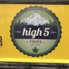 Top Marijuana Tours in Colorado. High 5 tours sign.