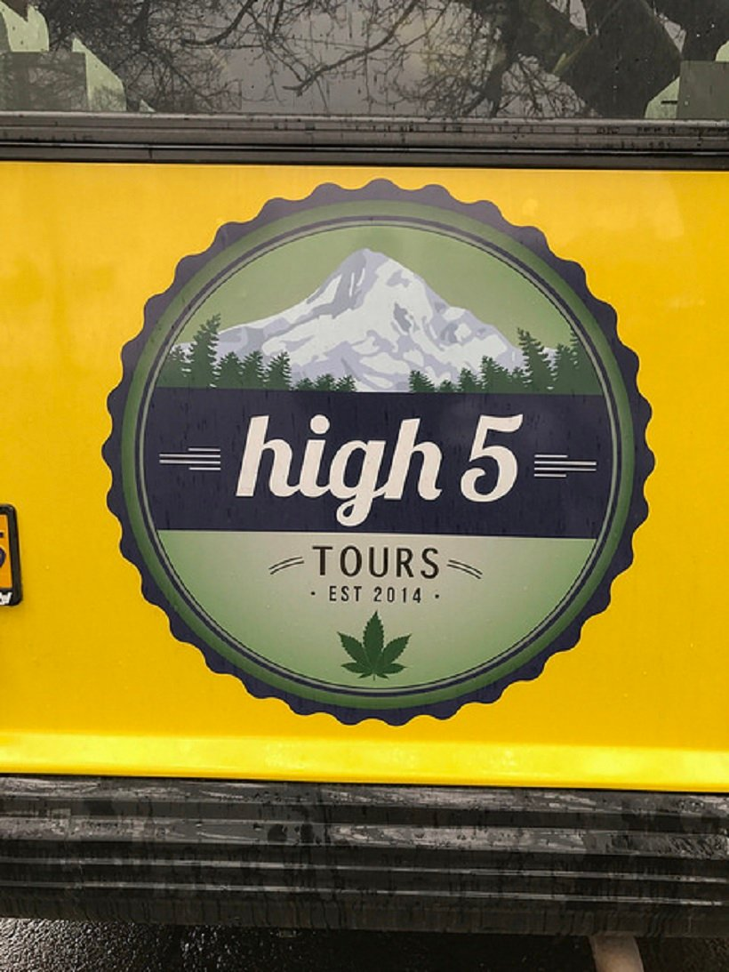 Top Marijuana Tours in Colorado. High 5 tours sign