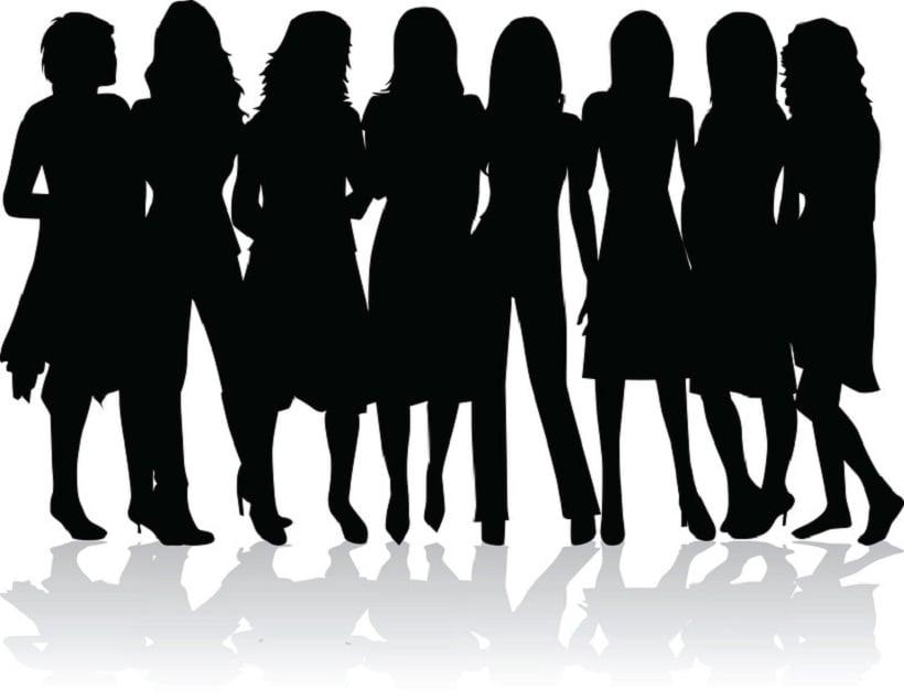 Top Marijuana Dispensaries Owned By Women. Shadows of women.