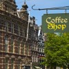 Tips for visiting Amsterdam coffee shops. Coffee shop sign