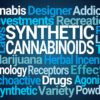 "Reasons to avoid synthetic marijuana. Word cloud centered around ""synthetic cannabinoids."""