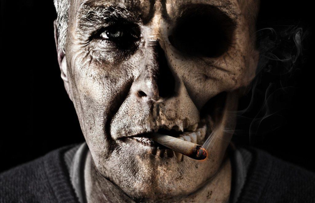 Will CBD cigarettes cure tobacco use? Man smoking