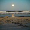 5 cannabis marijuana dispensaries in Boca Raton. Beach with the sun setting.