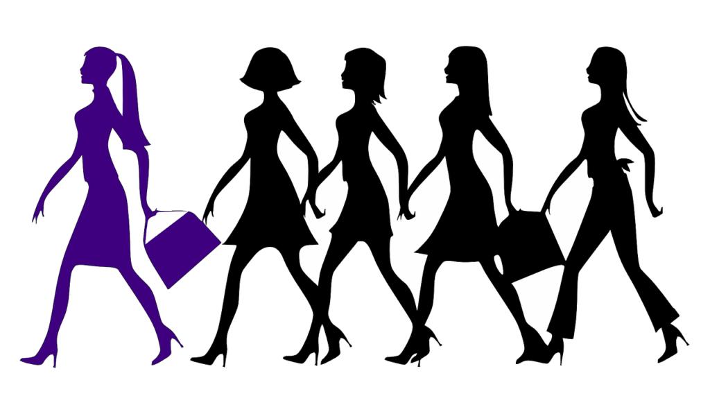 Top 10 Women in Marijuana and What They Do. Line of women walking.