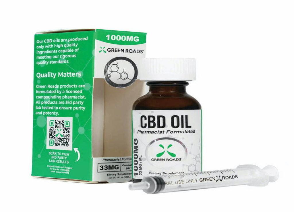 Green Roads cbd oil bottle