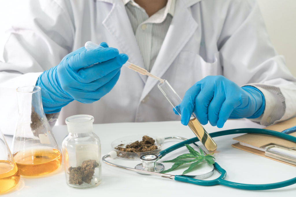 scientist drug test with marijuana