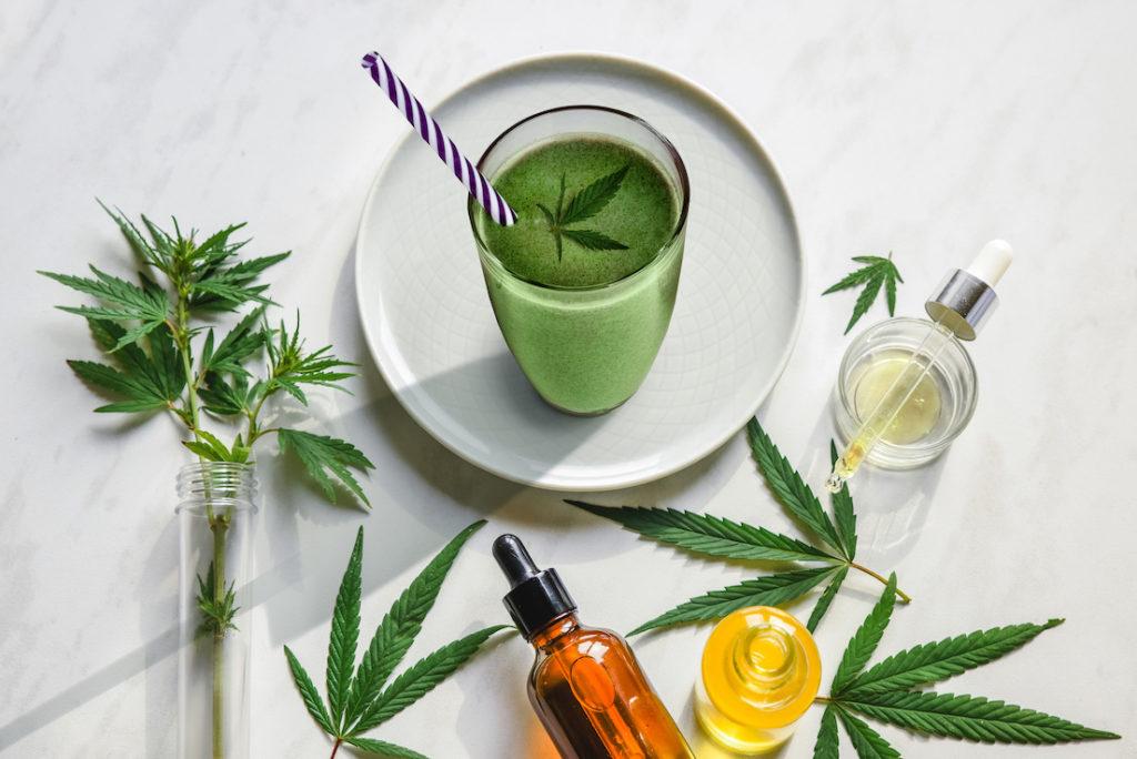 smoothies with cannabis and edible CBD, marijuana detox drink